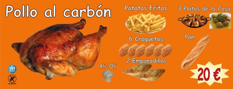 Pollo Al Carbón por 20 euros